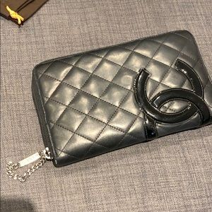 Gorgeous Authentic Chanel Wallet with Zipper